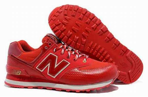 new balance ml574 femme rouge